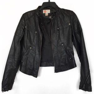 Bernardo Collection Black Vegan Leather Jacket